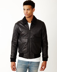Levi's Leather Flight Jacket Black