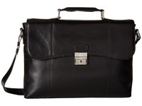 Scully Hidesign Jayden Lightweight Brief Black Briefcase Bags
