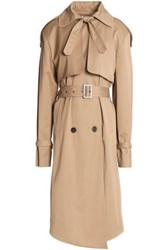 Magda Butrym Belted Stretch Canvas Trench Coat Sand
