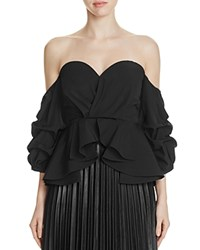Gracia Off The Shoulder Peplum Top Compare At 92 Black