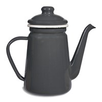 Garden Trading Enamel Coffee Pot Charcoal