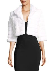 Alberto Makali Rabbit Fur Crop Jacket White Black