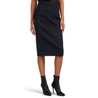 Zac Posen Floral Jacquard Pencil Skirt Black Pat.