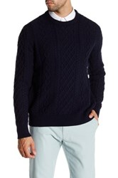 J. Crew Factory Fisherman Cable Knit Sweater Black