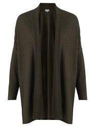 Jigsaw Rice Stitch Blanket Cardigan Dark Khaki