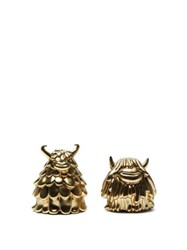 L'objet X Haas Brothers Niki Simon Salt And Pepper Shakers Gold