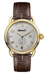 Ingersoll New England Leather Strap Watch 42Mm