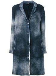 Avant Toi Overdyed Knitted Coat Women Cotton Linen Flax Polyamide Cashmere M Blue
