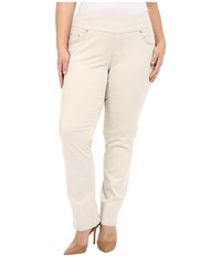 Jag Jeans Plus Size Peri Pull On In Bay Twill Stone Women's Casual Pants White