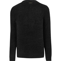 River Island Mens Dark Grey Chunky Knit Jumper