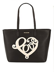 Love Moschino Pebble Faux Leather Tote Black