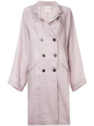 Forte Forte Double Breasted Trench Coat Pink