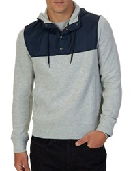 Nautica Half Snap Hoodie Grey Heather