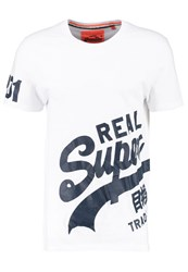 Superdry Vintage Logo Print Tshirt Optic White