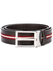 Bally Tamer Belt Men Cotton Leather 110 Brown