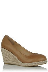 Oasis Catherine Court Wedge Tan