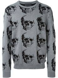 Philipp Plein 'Friday' Sweater Grey