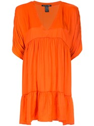 Smythe Tiered Blouse Yellow And Orange