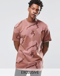 Reclaimed Vintage Oversized Camo T Shirt In Overdye Pink