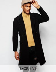 Reclaimed Vintage Duster Trench Coat Black