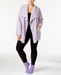 Alfani Plus Size Giftable Plush Cozy Wrap And Socks Set Only At Macys Lilac