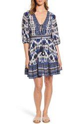 Kas New York Camille Mixed Print Fit And Flare Dress Multi