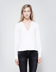 Rag And Bone Drape Top Bright White
