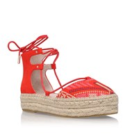 Carvela Kant Flat Espadrille Sandals Red
