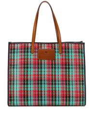 Etro Coated Checked Tote Bag 60