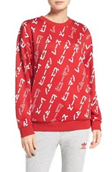Adidas Women's Originals By Pharrell Williams Hu Crewneck Sweatshirt