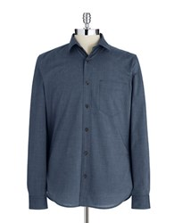 7 For All Mankind Long Sleeved Button Down Blue