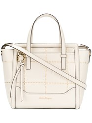 Salvatore Ferragamo Studded Tote Bag Women Calf Leather One Size White