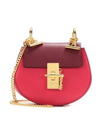 Chloe Drew Nano Leather Crossbody Bag Red
