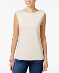Karen Scott Boat Neck Tank Top Only At Macy's Pebble