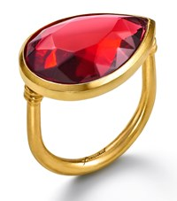 Baccarat Crystal Drops Of Colour Ring