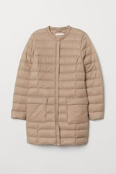 Handm H M Lightweight Down Coat Beige