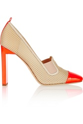 Reed Krakoff Atlas Mesh And Patent Leather Pumps