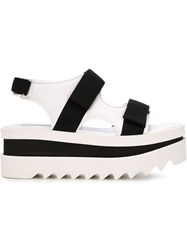 Stella Mccartney Chunky Flatform Sandals White