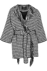 Raoul Fringed Boucle Coat Black