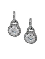 Lord And Taylor Crystal Drop Earrings Silver