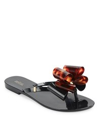 Mel Harmonicix Thong Sandals Black