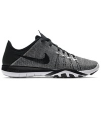 Nike Women's Free Tr 6 Print Training Sneakers From Finish Line White Black
