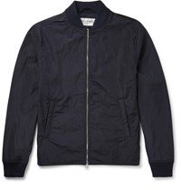 Officine Generale Ben Shell Bomber Jacket Navy