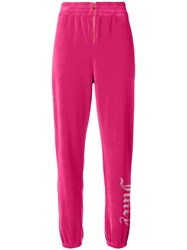 Juicy Couture Swarovski Personalisable Velour Track Pants Pink