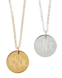 Providence Mirrored Acrylic Reverse Monogram Pendant Necklace Moon And Lola Gold