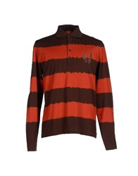 Boss Orange Topwear Polo Shirts Men Dark Brown