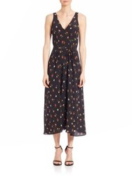 Rebecca Taylor Mini Meadow Maxi Dress Black Combo
