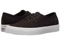 Vans Authentic Hemp Linen Black True White Skate Shoes