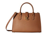 Lauren Ralph Lauren Carrington Brigitte Ii Satchel Field Brown Satchel Handbags