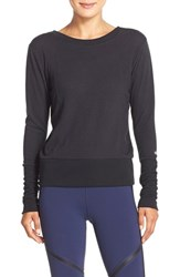 Alo Yoga Women's Alo 'Flux' Cross Back Long Sleeve Top Black